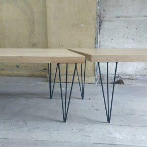 Tables fabriquées par Marie Dubois ébéniste à Saint Etienne