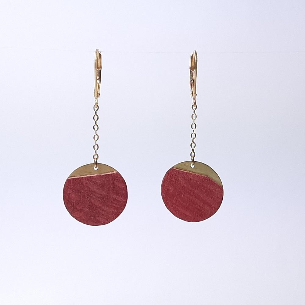 Dounia – Platane maillé teinté rouge