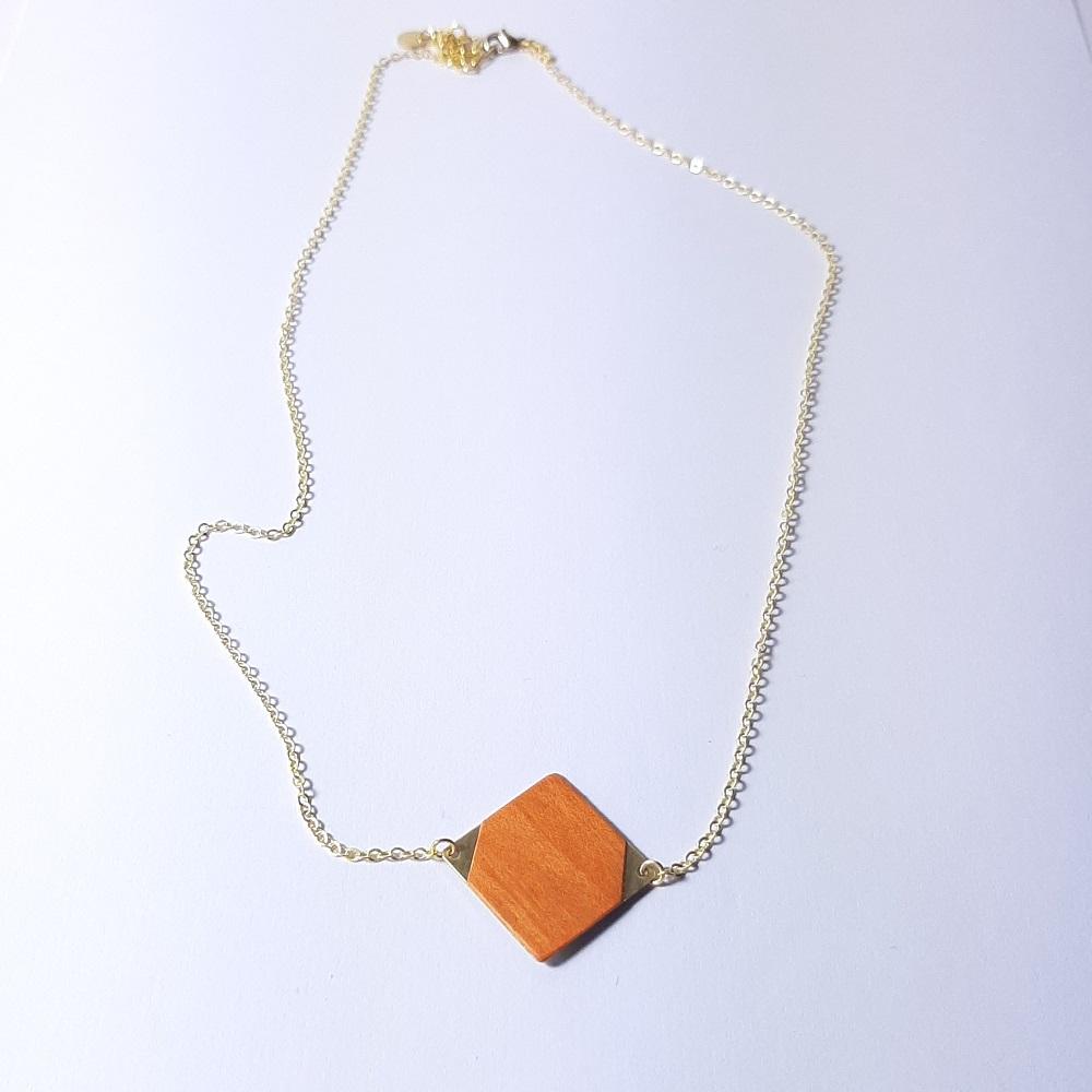 Collier Emi – Tulipier teinté orange
