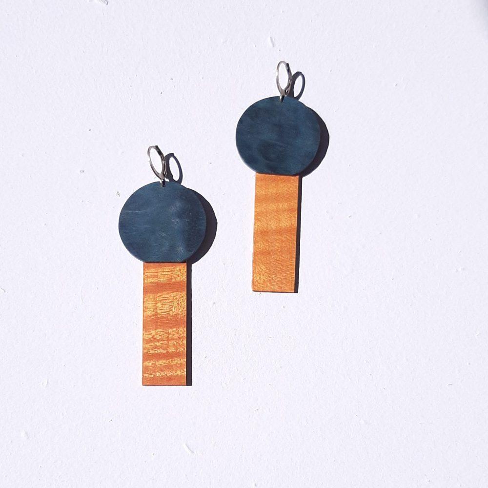 Memphis bleu/orange