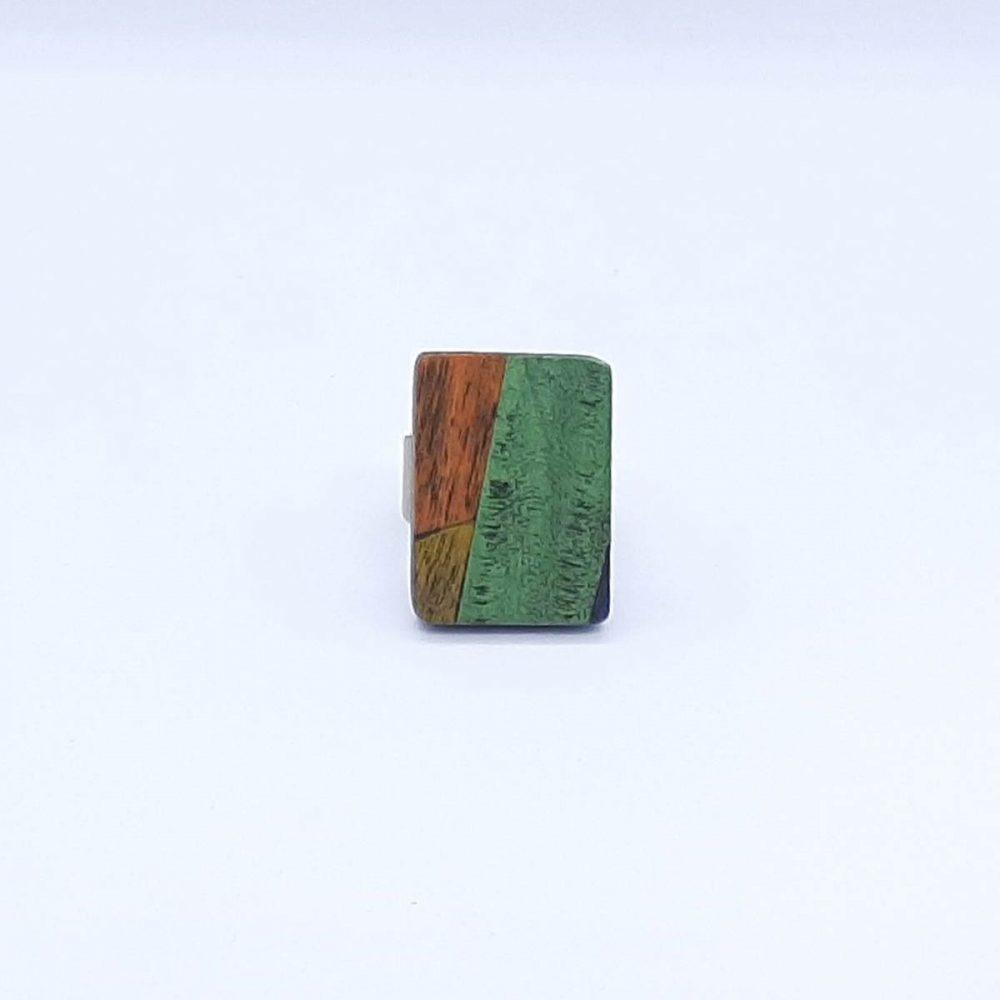 bague-bois-fait-main-rectangle-vert-orange