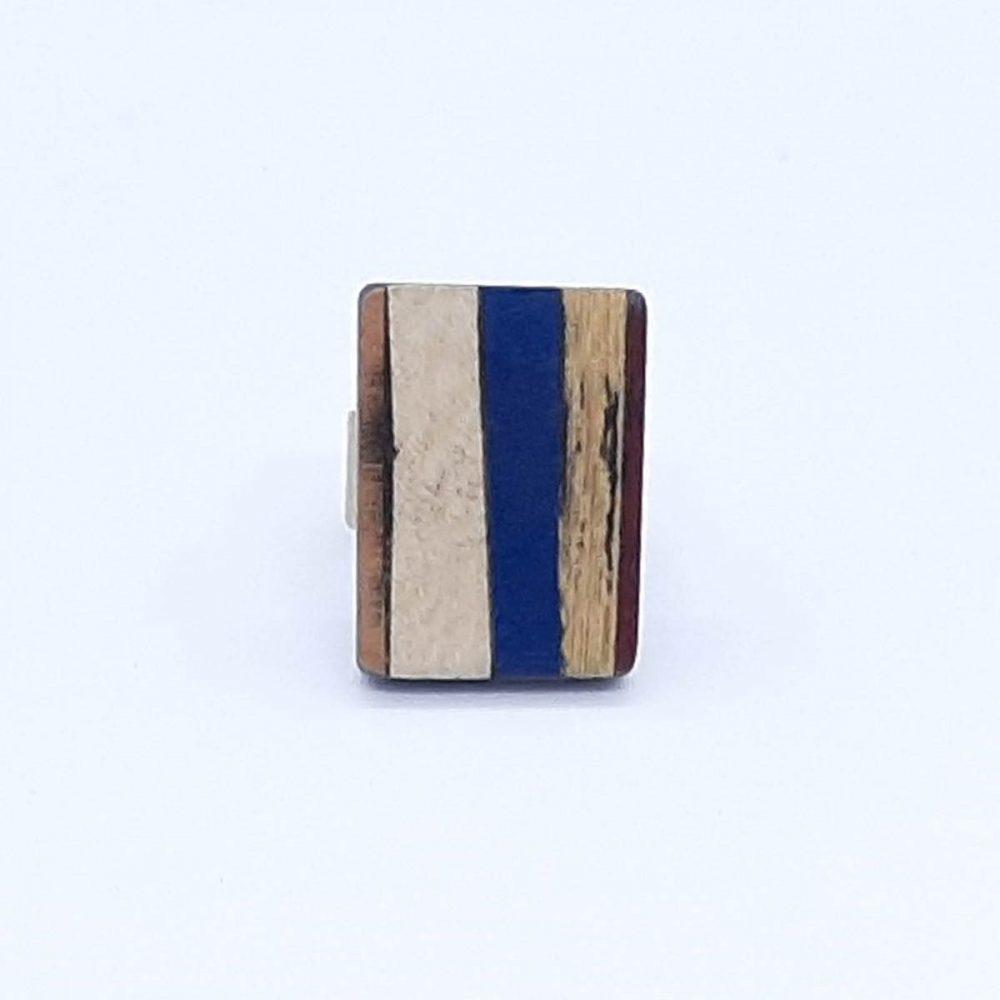 bague-bois-rectangle-bleu-or
