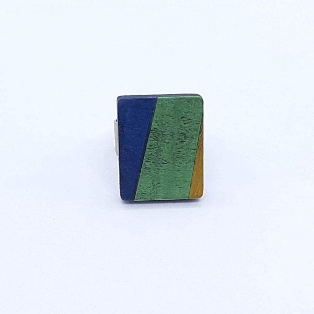 bague-bois-rectangle-bleu-vert-jaune