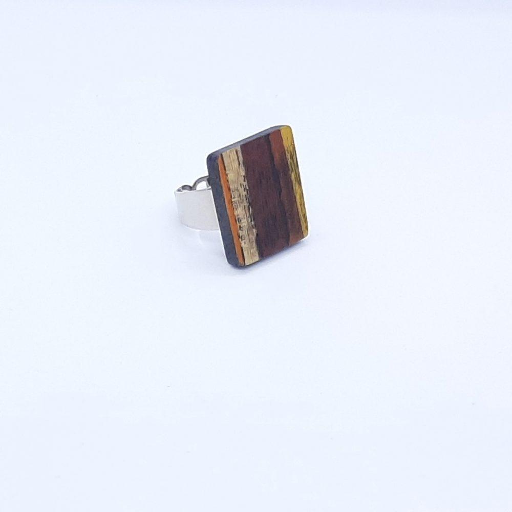 bijoux - bague en bois - marie dubois marqueterie